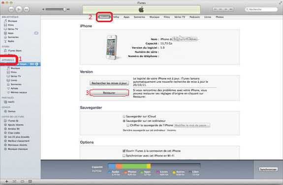 désimlocker iphone sur itunes