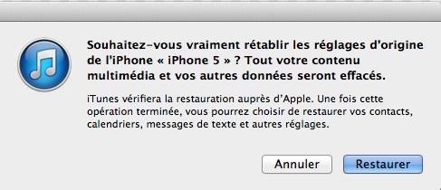 restaurer iphone 5